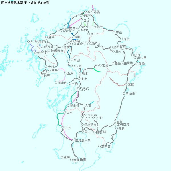 白地図 九州 白地図 フリー : 白地図 KenMap (白地図作成ソフト ...
