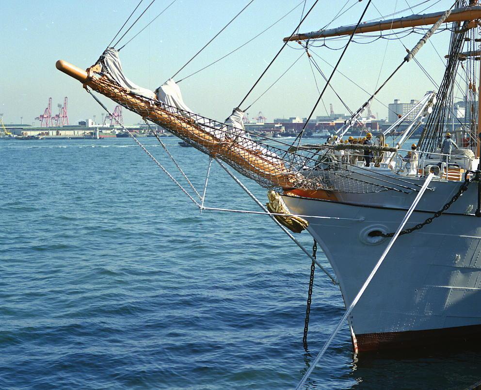 海王丸船首像 紺青
